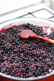 Making blueberry jam Stock Photo