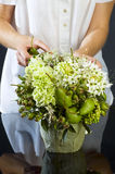 Making bouquet Royalty Free Stock Photography