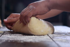 Making Bread Dough Royalty Free Stock Image
