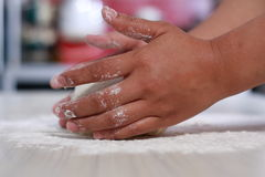 Making Bread Dough Stock Images