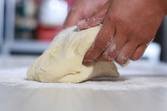 Making Bread Dough Stock Photos