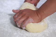 Making Bread Dough Royalty Free Stock Photography