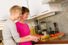 Making breakfast Royalty Free Stock Photography