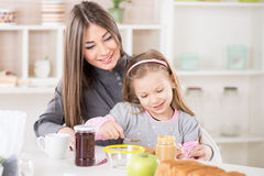 Making breakfast in the morning Royalty Free Stock Photography