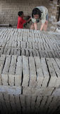 Making bricks from clay Royalty Free Stock Images