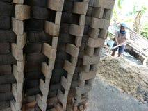 Making bricks Royalty Free Stock Images