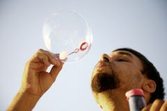 Making bubbles Stock Images