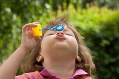 Making bubbles Royalty Free Stock Images