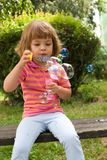 Making bubbles Royalty Free Stock Photography