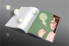 Making bubbles book Stock Photos