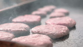 Making of Burgers stock video footage