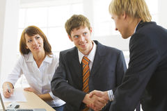 Making business agreement royalty free stock photography