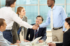 Making a business deal Royalty Free Stock Photo