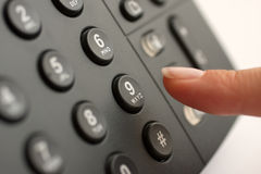 Making a business  telephone call Stock Images