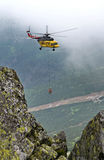 Making cableway. Chopok - Low Tatras, Slovakia royalty free stock photo