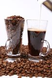 Making of caffe latte Stock Image