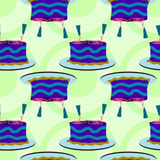 Making cake seamless background design Royalty Free Stock Photos