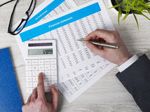Making calculations Stock Image
