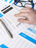 Making calculations Royalty Free Stock Images