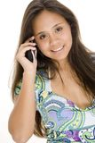 Making A Call 1. A young asian woman using a wireless phone Royalty Free Stock Photography