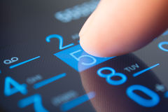 Making a call on a smartphone Stock Photos