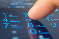 Making a call on a smartphone Stock Photography