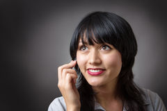 Making a call Royalty Free Stock Photo
