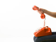 Making a call Royalty Free Stock Images