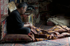 Making Carpets in Göreme Royalty Free Stock Photography