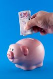 Making a cash deposit Stock Images