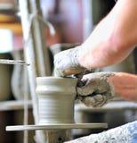 Making of a ceramic vase Stock Images