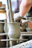 Making of a ceramic vase Royalty Free Stock Photo