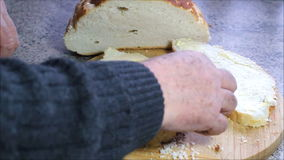Making cheese sandwich. stock footage