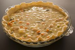 Making chicken pot pie Stock Image
