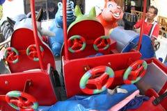 Making children fiber train Royalty Free Stock Image