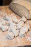 Making chinese dumpling Stock Photo