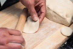Making chinese dumpling Royalty Free Stock Image