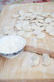 Making Chinese dumplings Royalty Free Stock Photos