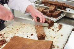 Making chocolate brownies Royalty Free Stock Photos