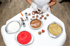 Making chocolate candy Royalty Free Stock Photo