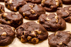 Making of Chocolate Peanut Butter Chip Cookies Stock Images
