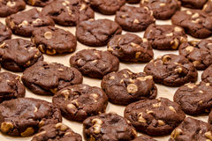 Making of Chocolate Peanut Butter Chip Cookies Royalty Free Stock Images