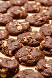 Making of Chocolate Peanut Butter Chip Cookies Royalty Free Stock Photography