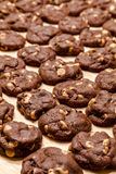 Making of Chocolate Peanut Butter Chip Cookies Stock Image