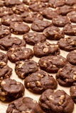 Making of Chocolate Peanut Butter Chip Cookies Stock Photo