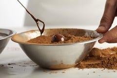 Making chocolates Stock Images