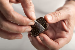 Making chocolates Stock Photo