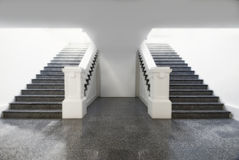 Making a choice of enlightenment. Choose the staircase to where there is hope and light Stock Image