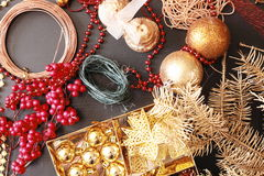 Making christmas advent wreath Stock Photo