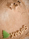 Making christmas cookies. At home royalty free stock photo